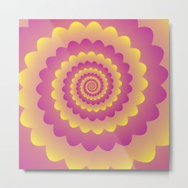 Indian Rangoli Pattern Metal Print
