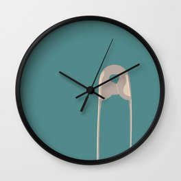 Safety Pin Wall Clock