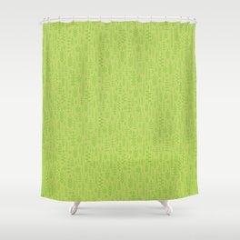Soft green leaves Shower Curtain