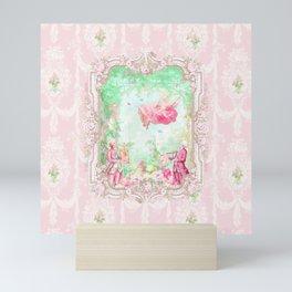 The Swing, Romantic Marie Antoinette Garden Mini Art Print