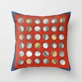 MARBLE - WOOD - CONCRETE - COTTON Throw Pillow