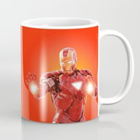 robert downey jr Mugs featuring Iron Man * by Hands in the Sky