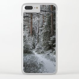 Forest in the late autumn Clear iPhone Case