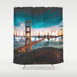 WANDERLUST San Francisco Shower Curtain