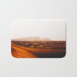 Minimalist Desert Landscape Sand Dunes With Distant Mountains Bath Mat