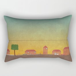 Hometown Scene Rectangular Pillow
