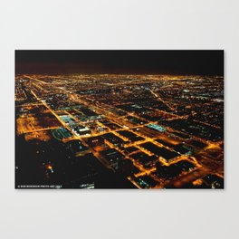 Miles and Miles of Lights (Chicago Architecture Collection) Canvas Print