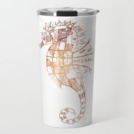 Steampunk Robot Seahorse Travel Mug