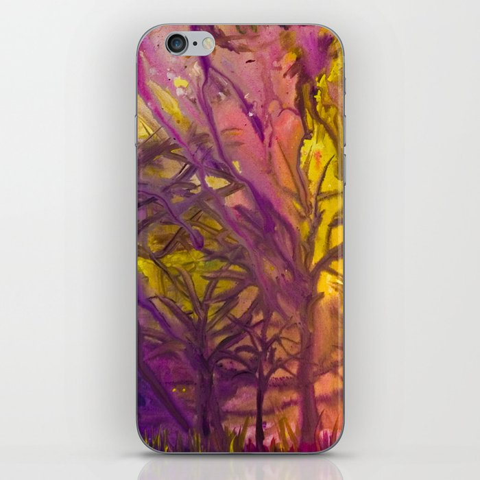 Psychedelic Forest Fire iPhone Skin