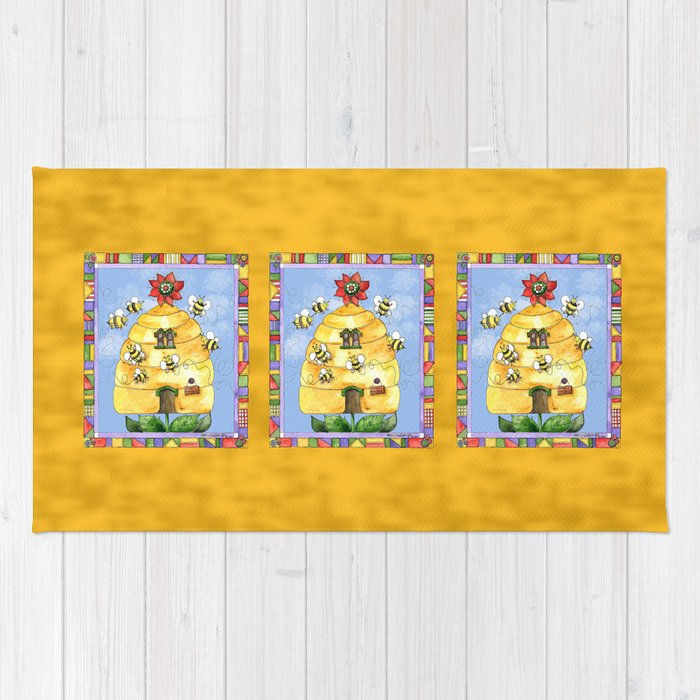 Busy Bees with Border Rug
