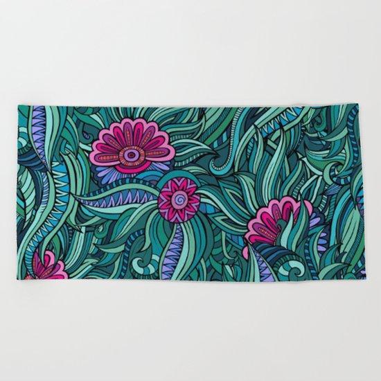 Shabby flowers #28 Beach Towel