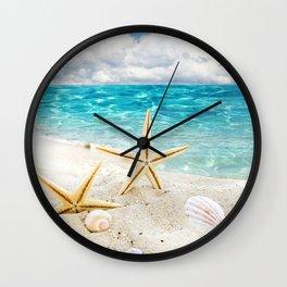 seashell and sea Wall Clock