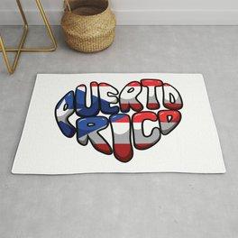 Puerto Rico Heart - Boricua Love Rug