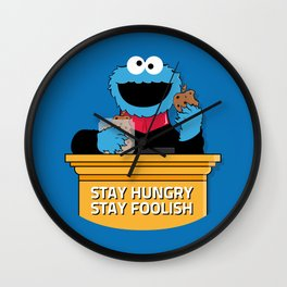 Stay Hungry. Stay Foolish. Wall Clock