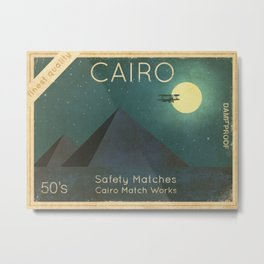Cairo Safety Matches  Metal Print