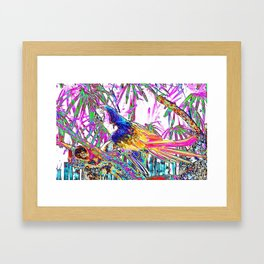 Cheerful Parrot. Art Framed Art Print