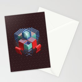 Abstract Cube 01 Stationery Cards