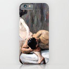 Max Liebermann - Samson and Delilah - Digital Remastered Edition iPhone Case