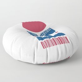 Nordic Red Flower Floor Pillow