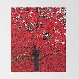 TREE RED Throw Blanket