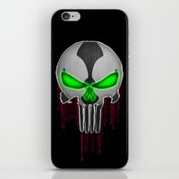 spawn iPhone & iPod Skins featuring Punisher Spawn Mash-Up by Joshua Epling