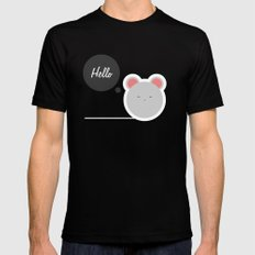 Hello Pets no.2 Black MEDIUM Mens Fitted Tee