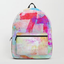 Passion mixed media colorful abstract art Backpack