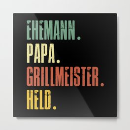 Funny Father's Day Gift Father's Day Dad Metal Print