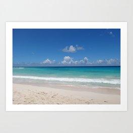 Caribbean beach Art Print