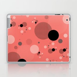 Coral Dots Laptop & iPad Skin