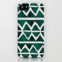 Teal Triangles iPhone Case