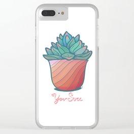 U Succulent Clear iPhone Case