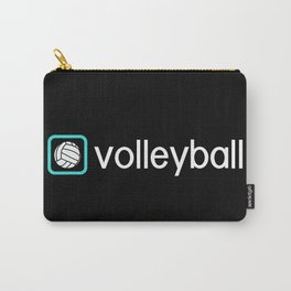 Volleyball (Blue) Carry-All Pouch