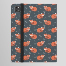 Red Panda Pattern iPad Folio Case