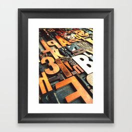 3B - Typography Photography™ Framed Art Print