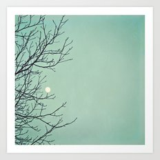 Holding the moon Art Print