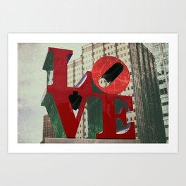 Love Sign Philadelphia Art Print