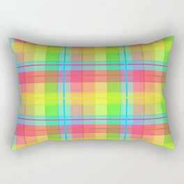 Rainbow Plaid Rectangular Pillow