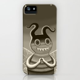 bee movie noir iPhone Case