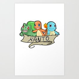 Kanto Starters Art Print