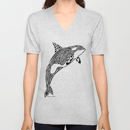 Tribal Orca Unisex V-Neck