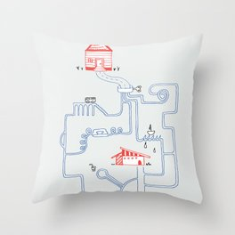 All Roads Lead to Your House Throw Pillow