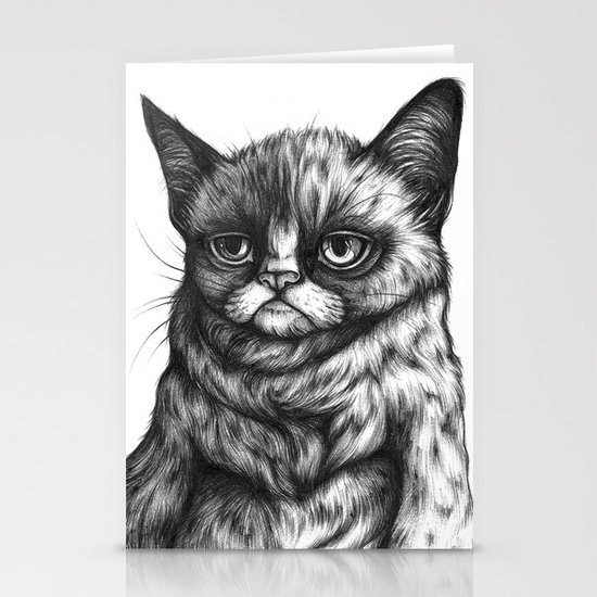 Tard the Grumpy Cat Stationery Cards
