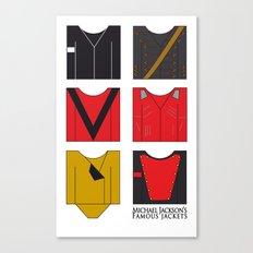 Michael's famous jackets Canvas Print