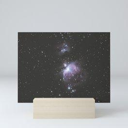 Orion And Running man Nebula's Mini Art Print