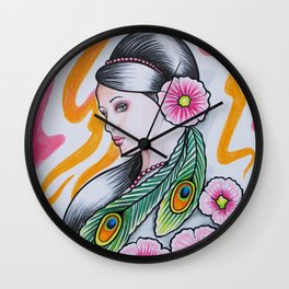 'GRACE' - Ruth Priest Wall Clock