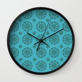 Green Sea Urchin - Mini Mandala Art Wall Clock