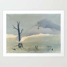 Holy Mountain IV by Horace Pippin, 1946 Art Print