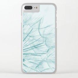 Dandelion In Blue Clear iPhone Case
