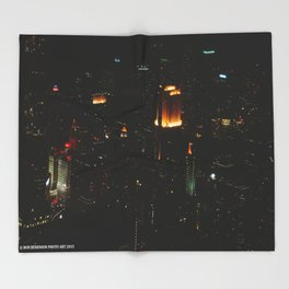 Chicago Skyline Light Show (Chicago Architecture Collection) Throw Blanket